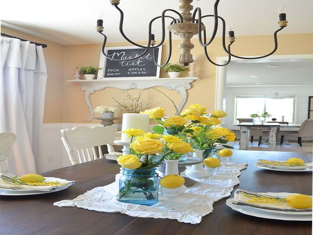 Dining Room Table Summer Centerpieces