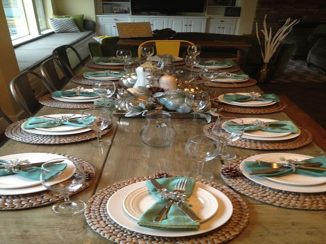 Dining Room Table Setting Decoration Ideas