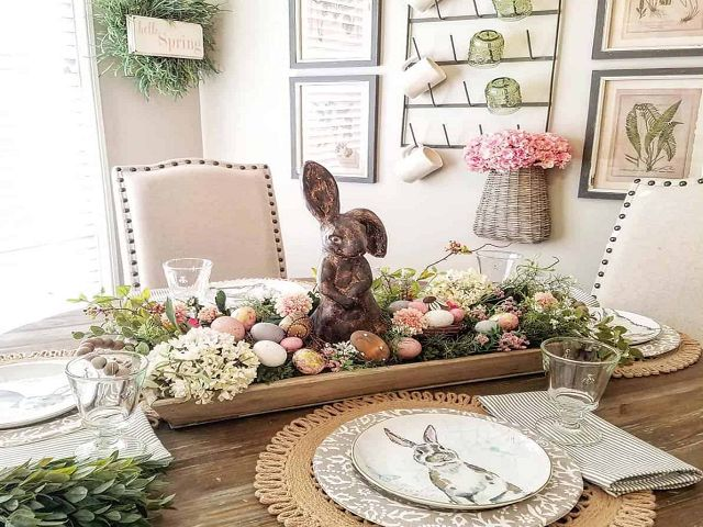 Dining Room Table Spring Centerpieces