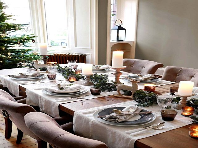 Dining Room Table Decorations Christmas