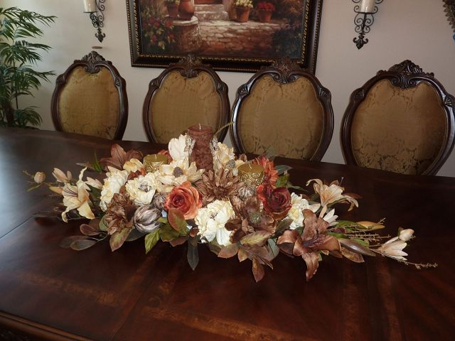 Dining Room Table Floral Centerpieces