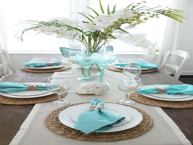 Coastal Dining Room Table Centerpieces