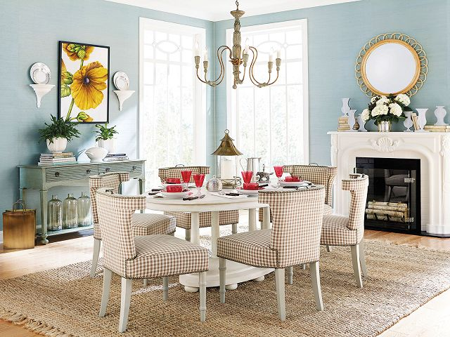 Colorful Dining Room Table Centerpiece