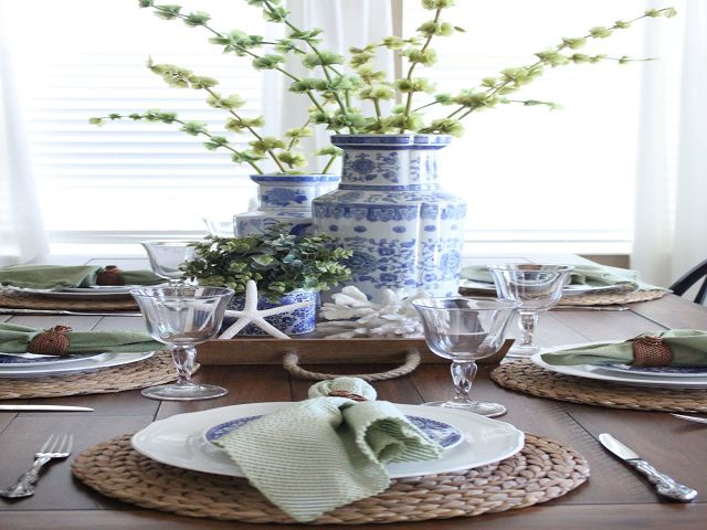 Coastal Dining Room Table Centerpieces Dimasummit Com