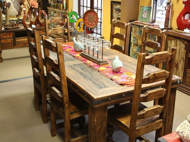 Western Dining Room Table And Chairs