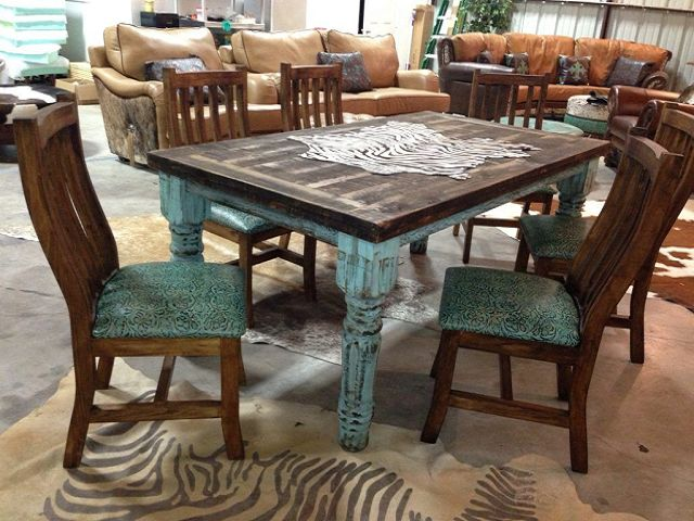 Western Dining Room Table And Chairs, Western Dining Room Chairs
