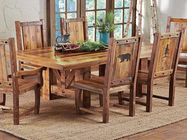 Western Dining Room Table And Chairs, Western Dining Room Furniture