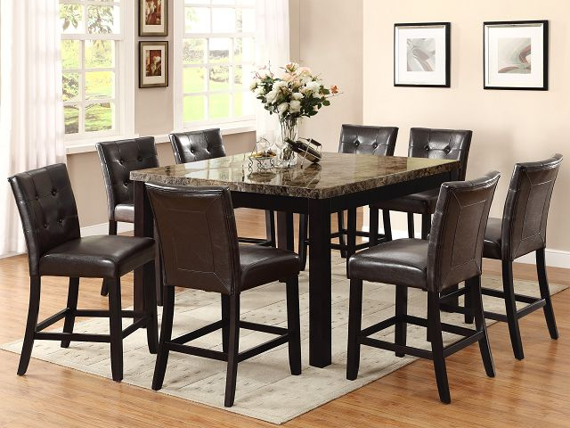 Black Dining Room Table And 8 Chairs Dimasummit Com