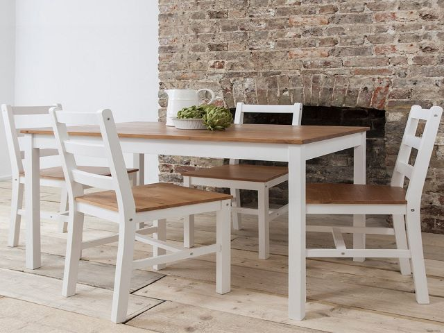 Dining Table And Chairs White