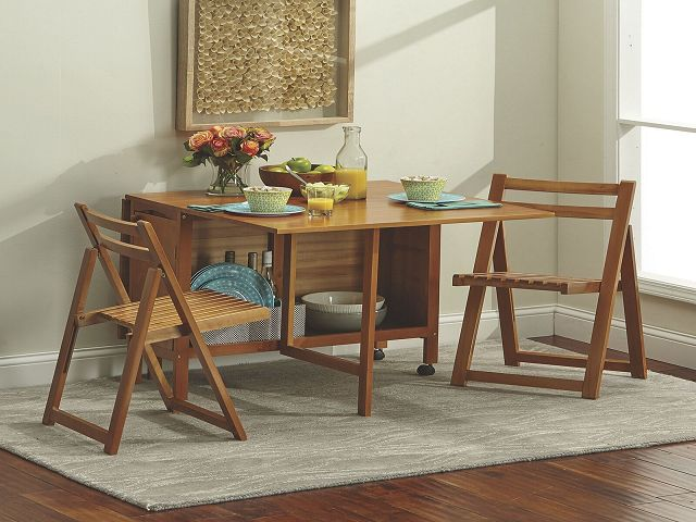 Fold Up Dining Room Table And Chairs