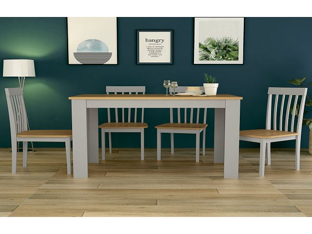Dining Table And Chairs Solid Oak