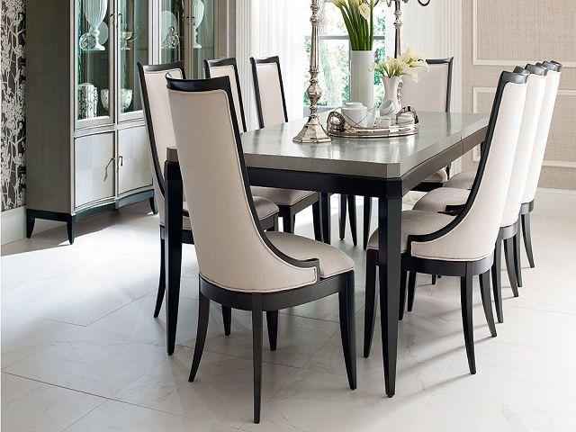 Dining Table And Chairs Two Tone