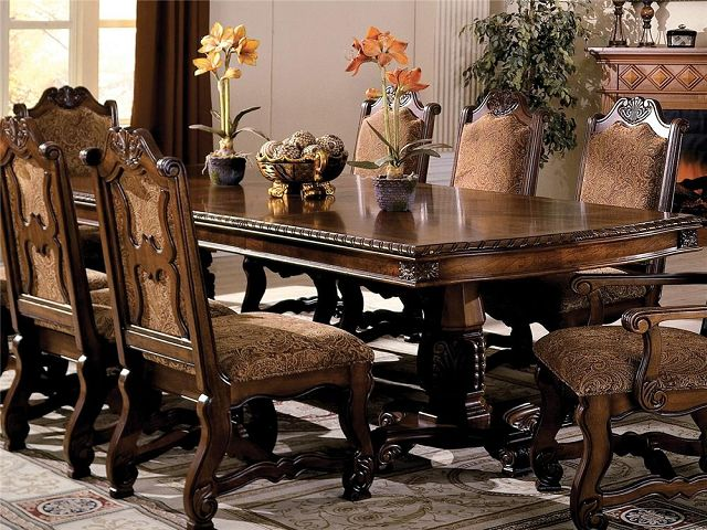 Pedestal Dining Room Table And Chairs