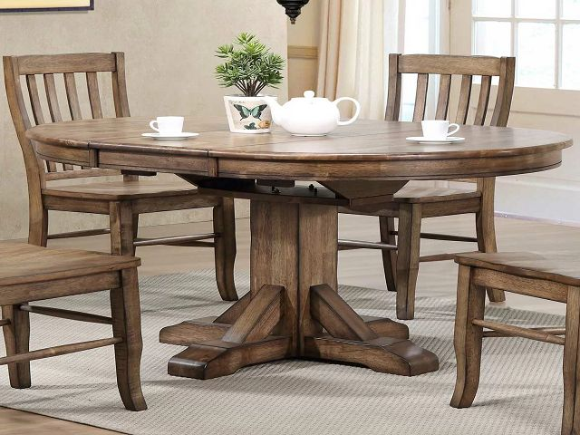 solid wood for the dining table and dining room chairs
