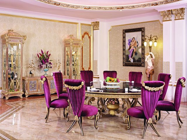Purple Dining Room Table And Chairs