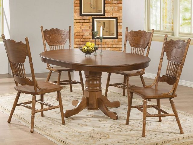 Antique Oak Dining Room Table And Chairs