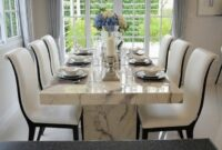 image and photos Marble Dining Room Tables And Chairs