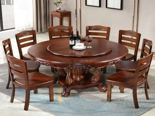Large Round Dining Room Table And Chairs