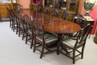 Large Antique Dining Room Table And Chairs