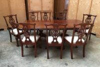 images and photos Large Antique Dining Room Table And Chairs