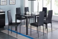 images and photos modern glass dining table set for 6